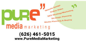 Pure Media Marketing Logo with Phone and Titles