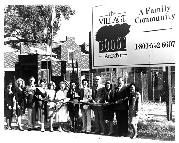 The Village A Family Community Ribbon Cutting 1990