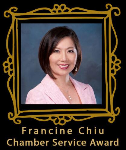 Francine Chiu speaker and winner of the Chamber Service Award
